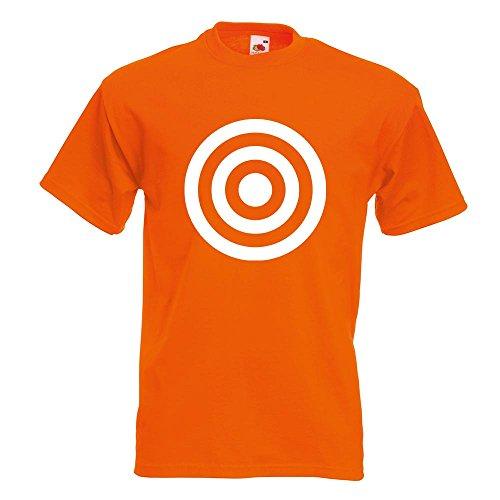 KIWISTAR - Bullseye Zielscheibe RAF T-Shirt in 15 verschiedenen Farben - Herren Funshirt bedruckt Design Sprüche Spruch Motive Oberteil Baumwolle Print Größe S M L XL XXL Orange