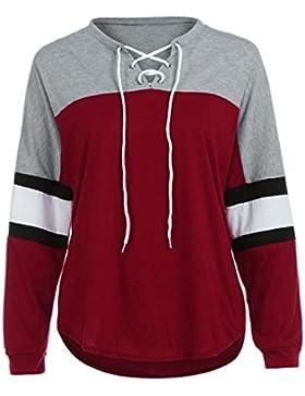 OverDose Donna T shirt Manica Lunga Camicia Camicetta Felpa