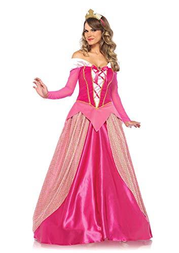 Medievale Kostüm Prinzessin - Leg Avenue 8561201005 85612-2Tl Set Prinzessin Aurora, Damen Fasching Kostüm, Pink, Größe: S (EUR 34-36)