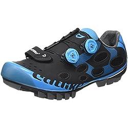 CATLIKE Whisper MTB 2016, Zapatillas de Ciclismo de montaña Unisex Adulto (Negro/Azul 000), 44 EU