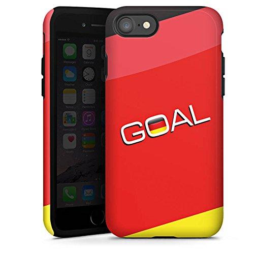 Apple iPhone X Silikon Hülle Case Schutzhülle Deutschland Tor Fußball Tough Case glänzend