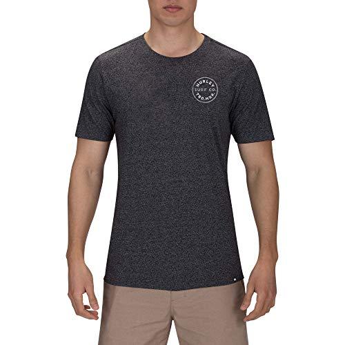Hurley Herren T-Shirt M Hayden Tee, Black Htr, XL, BQ3040 - Hurley-t-shirt Pocket