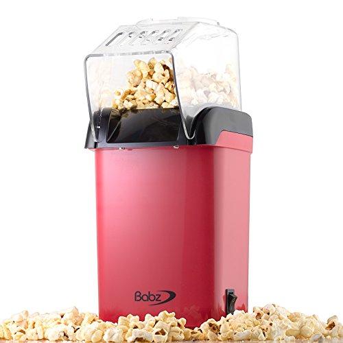 Babz Red Popcorn Maker Fat Free Healthy Popcorn Machine by Babz Media Ltd