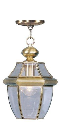 Livex Lighting 2152-01 Monterey - Lampada a 1 luce per esterni, in ottone anticato