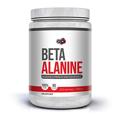 41MS0WOOl5L. SS500  - Pure Nutrition USA BETA Alanine Powder 2000mg for Strenght and Endurance 250g 500g Unflavored