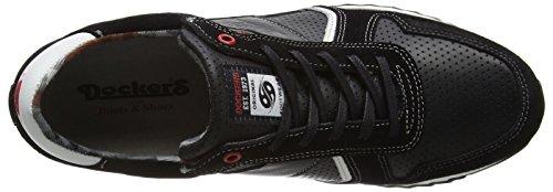 Dockers By Gerli 38eb003-201, Baskets Homme Noir (noir (noir 100))