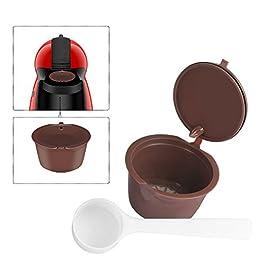 OurLeeme ricaricabile riutilizzabili Dolce Gusto Caffè in capsule Compatibile con Nescafe Genio, Piccolo, Esperta e…