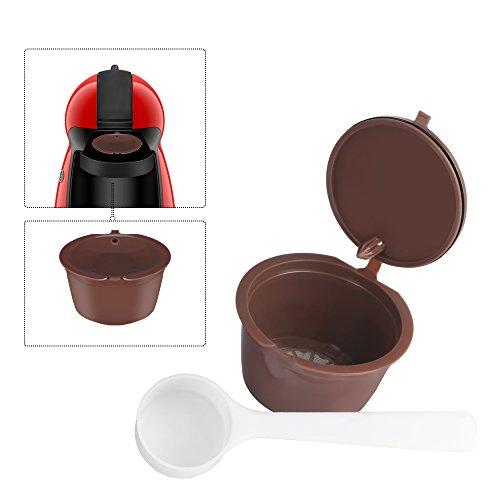 Ourleeme ricaricabile riutilizzabili dolce gusto caffè in capsule compatibile con nescafe genio, piccolo, esperta e circolo