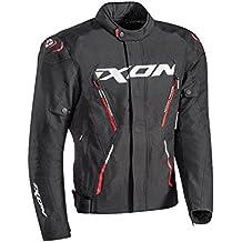 Ixon Chaqueta de moto para hombre MISTRAL talla negro rojo, talla XXXL