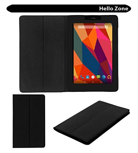 Hello Zone Exclusive Black Leather Flip Case Cover for Micromax Canvas Tab P680 Tablet  available at amazon for Rs.289