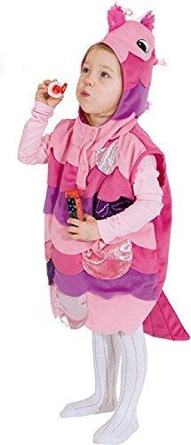 üss rosa Fisch mit Kapuze Überwurf Tier unter dem Meer Welttag des buches-tage-woche Karneval Kostüm Kleid Outfit 3-4 Jahre (Fische Kostüme Kleinkind)