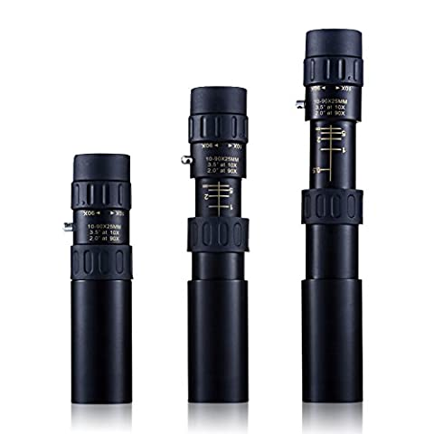 Contever® 10-90x25 Mini HD Monocular Telescope - Pocket Size Super Clear Telescopes For Traveling Viewing Water Sports Outdoor Activities