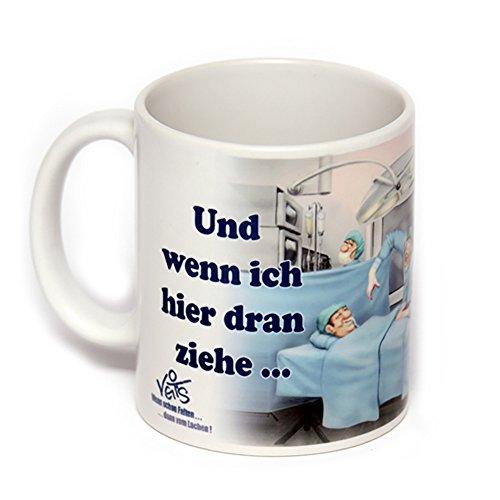 Zukunft Arzt Kostüm - lustige Cartoon Keramik Tasse für Chirurg