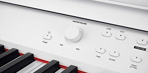 Steinmayer DP-380 WM Digitalpiano (88 Tasten, Holztasten, Hammermechanik, Triple-Sensor-System, LCD, Begleitautomatik, 2 Kopfhöreranschlüsse, 1 Mikrofonanschluss mit eigenen EQ-Einstellungen und Effekten, MP3 Player) weiß matt - 4