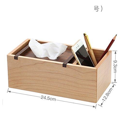 Natürlichen Stifthalter Tissue box,Tv-fernbedienung Caddy Chinesischer stil Minimalismus Aufbewahrungsbox-B (Datei Rack Für Die Schublade)