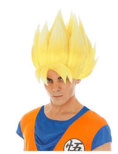 Kostüm Son Perücke Goku - Saiyan Goku-Perücke für Erwachsene Dragonball Z gelb