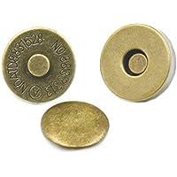 25jeux 14mm 9/40,6cm Sac à main Double Rivet magnétique fermeture avec fermoir rond Bouton Sac en cuir bronze