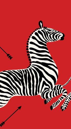 pari Gästetücher, Zebras rot, 15Stück (Safari-dekor-ideen)
