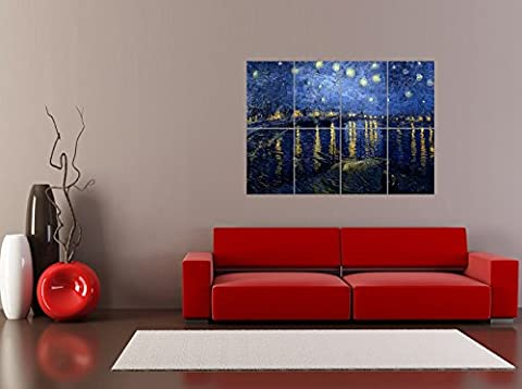 PANEL ART PRINT VINCENT VAN GOGH STARRY NIGHT 1888 OLD MASTER PAINTING REPRODUCTION POSTER OZ4625