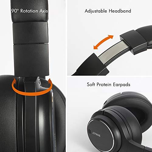 Noise Cancelling Kopfhörer bis 48 Std. Abspielzeit, Bluetooth Kopfhörer DOMAX M1, Noise Cancelling Kopfhoerer Komfortable, HiFi Stereo Over Ear Kopfhörer - 5