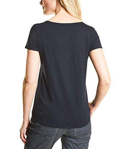 Cecil Damen T-Shirt Blau (Deep Blue 30128)