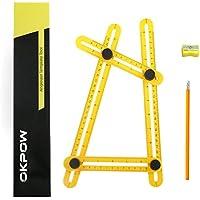 OKPOW OF008 Medidas Formas Angle-Izer ángulo Plantilla Herramienta, Angleizer Template Tool