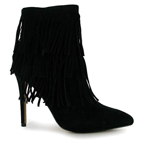 Steve Madden Flapper Stiletto Stiefel schwarz Damen Fashion Damen Schuhe, schwarz (Steve Madden Stiefel Schwarz)