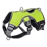 IW.YLMF Pet Brustgurt, Großer Hundegeschirr Einstellbar Wasserdichtes Lauftraining Reflektierende Führleine Zugseil Brust Zurück,Green,XL