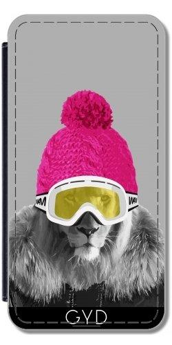 Leder Flip Case Tasche Hülle für Huawei P10 Lite - Lion Ski by wamdesign (Leder Arden)