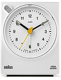 Braun BNC004WHWH Sveglia classica con attivazione vocale - Bianco