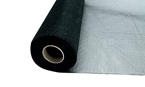 25m x 29cm Snow Sheer Organza Rolls Black with Glitter Fabric - Perfect as Christmas, Wedding or Party Decorations by Trimming Shop