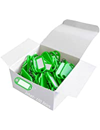 Wedo 262801800Porte-clés plastique (avec anneau, interchangeables Étiquettes) Lot de 100 vert