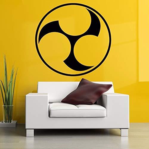 Kunst Logo Wandaufkleber Wohnzimmer Tapete Dekoration Wandtattoo Schlafzimmer Vinyl Wandaufkleber Wandaufkleber Haus Und Garten blau 57X57 cm