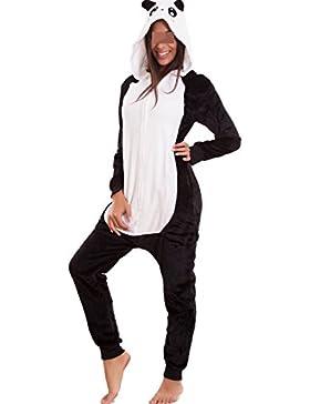 Toocool - Pigiama donna kigurumi costume carnevale eco pelliccia panda volpe leopardo felpato B1624