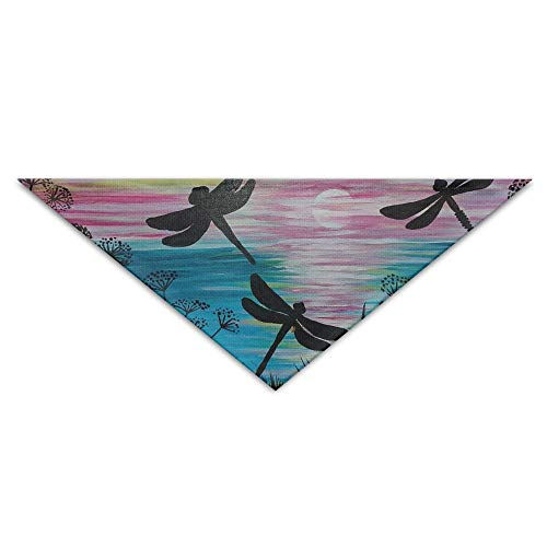 Gxdchfj Dragonflies Danced In The Flowers Triangle Pet Scarf Dog Bandana Pet Collars for Dog Cat - Birthday