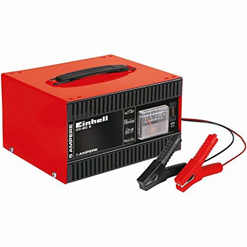 einhell batterie ladegeraet Einhell Batterie Ladegerät CC-BC 5 (für Batterien von 16 bis 80 Ah, 12 V Ladespannung, eingebautes Amperemeter, Tragegriff)