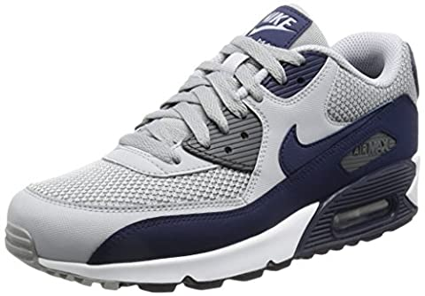 Nike Air Max 90 Essential, Baskets mode homme, Gris (Wolf Grey/binary Blue/dark Grey/white), 43 EU