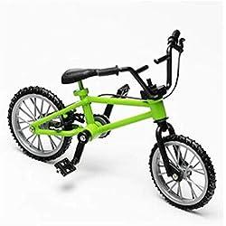 Goodplan 3 Couleurs Mini Vélo Jouet Simulation Mini Alliage Vélo BMX Modèle De Décoration De Table Cadeau pour Amoureux De Vélo Enfants, Vert Durable et Utile