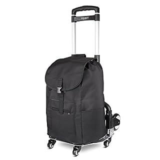 FIXKIT Tragbarer Klappwagen Einkaufstrolley  mit Abnehmbarer Tasche and Ausziehbarem Griff,Gestell Aluminium Sackkarre Belastbar bis 75kg