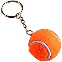 Gysad Forma de Tenis Llavero Interesante Llaveros de Coches Llavero Decorativo (Naranja)