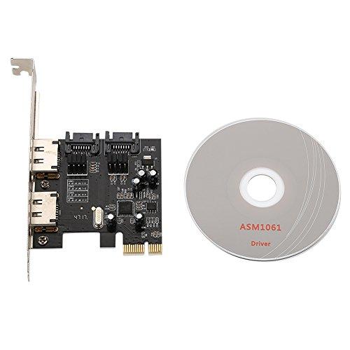 PCI-E SATA-Adapter, Hochgeschwindigkeits-Desktop-Computer PCI-E auf SATA3.0-Erweiterungskarte, 2 Sataiii-Schnittstellen +2 Esata-Erweiterungsschnittstelle, Datenübertragung kann 6,0 Gbit / s erreichen - Esata Erweiterungskarte
