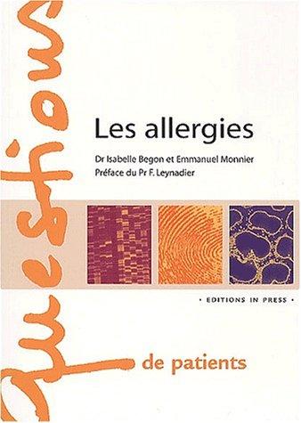 Les allergies par Isabelle Bégon-Bagdassarian