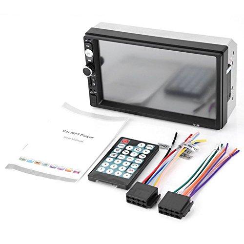 Cikuso 2 din Reproductor multimedia 7010B de radio estereo de audio de...