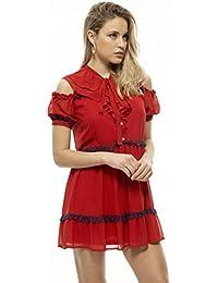 El Armario De Lulú Vestido Sailor Corto Estilo Casual Rojo