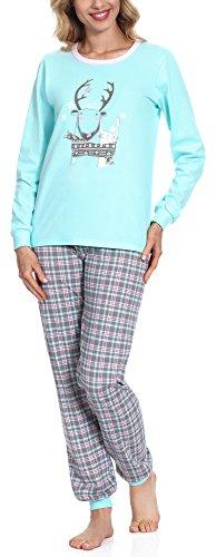 Merry Style Pyjama Femme 867 Turquoise