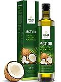 MCT-Olio di Cocco acidi grassi essenziali - 500ml Adatto per vegani, vegetariani e diete Paleo- Keto, Senza Glutine