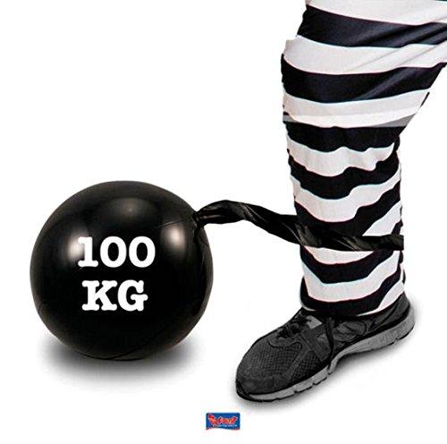 Folat 20261 Aufblasbare Fußfessel mit Kugel Schwarz, Keine, ()