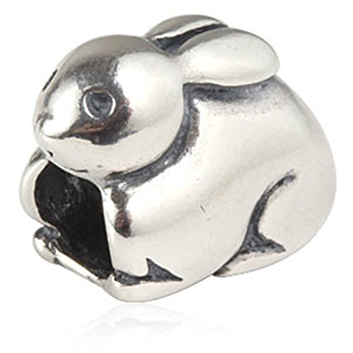 Charm Hase 925 Sterling Silber Ostern Animal Bead kompatibel Marke Armband Schmuck