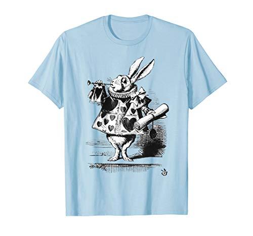 Oster T Shirt weißer Hase Alice im Wunderland Hase Kaninchen (Alice Im Wunderland Kaninchen Kostüm Kind)