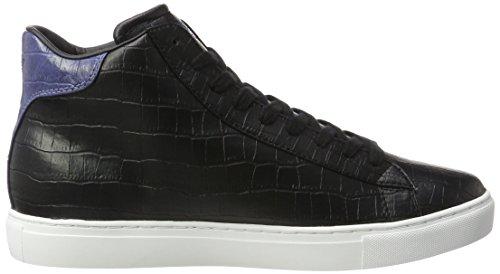 Armani - Sneaker High Cut, Pantofole a Stivaletto Uomo Nero (Nero)